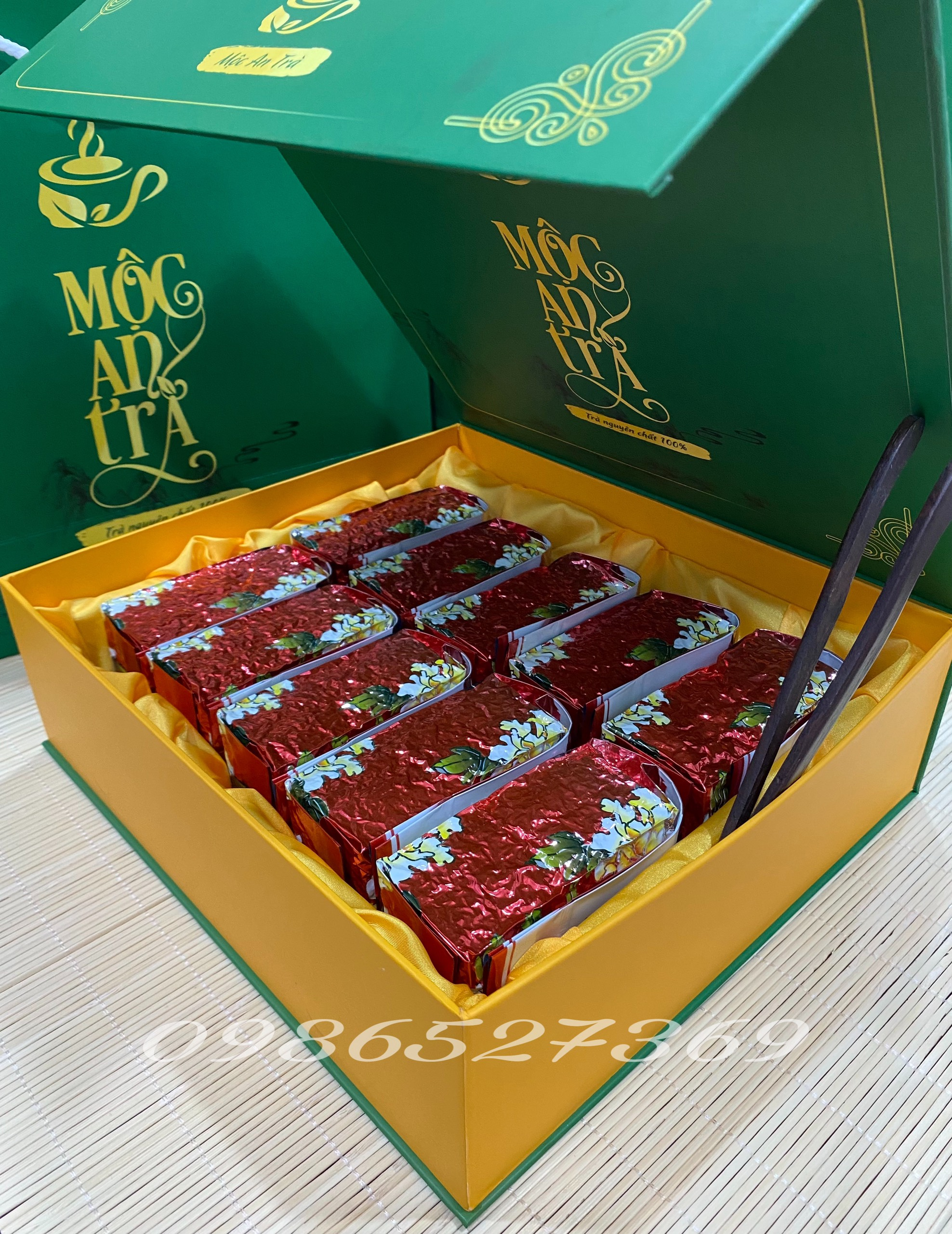 Trà (Chè) Đinh Ngọc Tân Cương Thái Nguyên Hộp 1kg